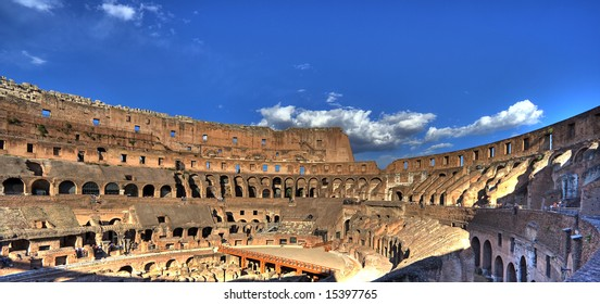 famous roman colosseum - italy