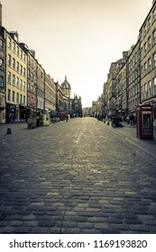 The famous Royal Mile in Edinburgh, Scotland
