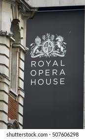 Famous Royal Opera House in London at Covent Garden - LONDON / ENGLAND - SEPTEMBER 23, 2016