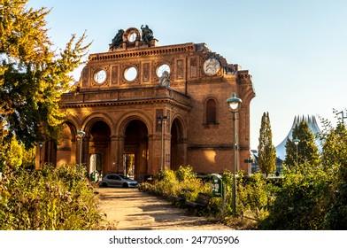 famous ruin of the Anhalter Bahnhof in Berlin