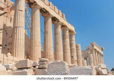 Famous ruins of Parthenon of Acropolis in Athens, Greece