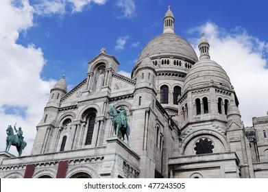 The famous Sacre-Coeur basilica in Paris, France