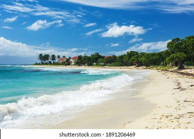 Famous sandy Raisins Clairs beach in Saint Francois town. Guadeloupe, Caribbean - Shutterstock ID 1891206469