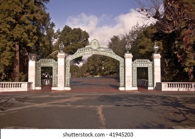 The famous Sather Gate at the University of California at Berkeley - California's senior public university