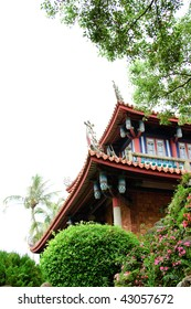 It is famous scenic spot of historic , Chikan Tower, in Taiwan