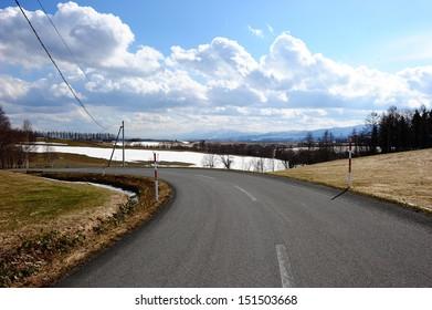 Famous scenic view In hokkaido