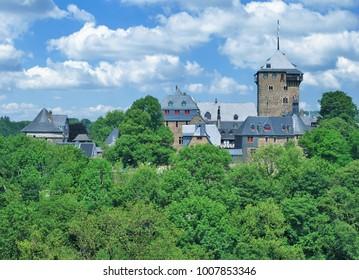 the famous Schloss Burg Castle in Solingen in Bergisches Land,North Rhine westphalia,Germany