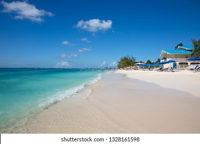 Famous Seven mile beach on the Grand Cayman island
