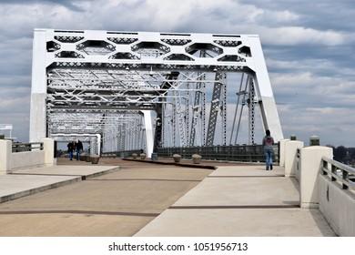 Famous Shelby Street pedestrian bridge at Nashville, Tennesee