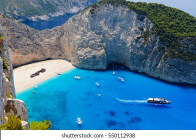 Famous shipwreck bay, Zakynthos island, Greece