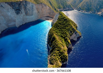 Famous Shipwreck beach at Zakynthos, Greece