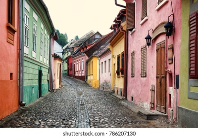 the famous Sighisoara medieval town in Transylvania, Romania