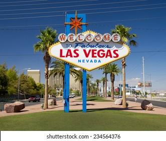 famous sign on Las Vegas Boulevard (Strip), Nevada, USA