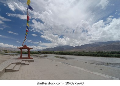 Famous sindhu ghat on Indua river at Leh India