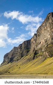 Famous Skogafoss waterfall, Iceland