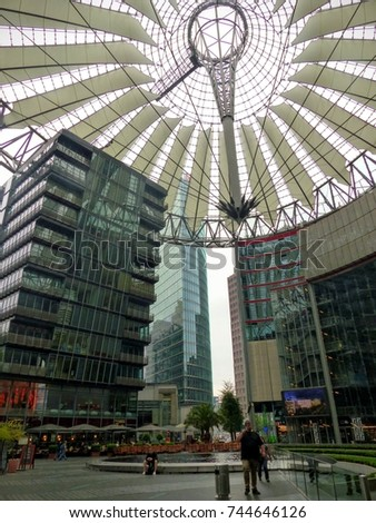 Famous Sony Center Glass Modern Buildings Stock Photo Edit Now