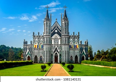 The famous St. Lawrence Shrine Minor Basilica in Attur