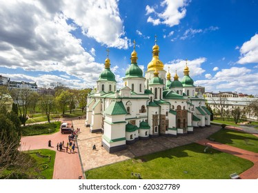 The famous St. Sophia Cathedral in Kiev at sunny day