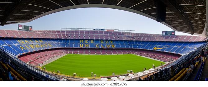 The famous stadium of FC Barcelona Camp Nou. Barcelona, June 2014.