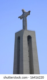 Famous statue of the Christ the Redeemer, in Lisbon.