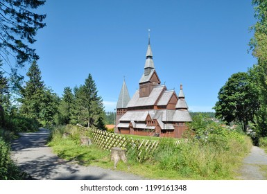 famous Stave Church of Hahnenklee in Harz Mountain,lower saxony,Germany