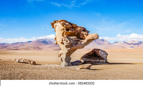 The famous Stone Tree in the Siloli desert - Southern Altiplano, Bolivia