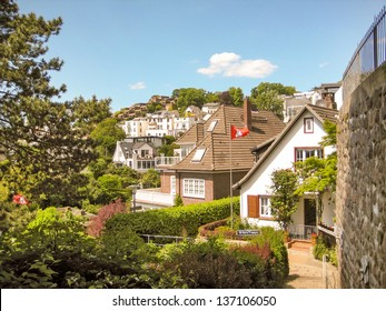 famous street in the district Blankenese in the german city Hamburg
