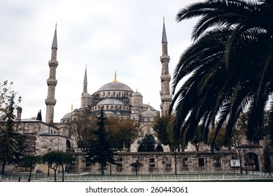 Famous Sultan Ahmed Mosque or Blue Mosque in Istanbul, Turkey
