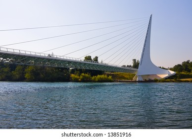 Famous Sundial Bridge in Redding California