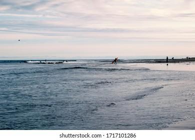 The famous surfrider beach in Malibu California