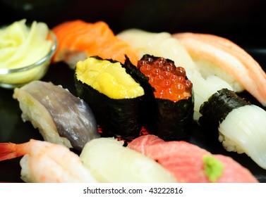 It is famous sushi in Otaru in Japan