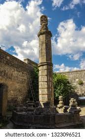 The famous swinging pillar (ghavazan) in Tatev monastery, Armenia