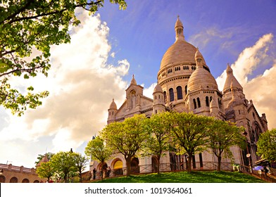 The famous and symbolic Sacre Coeur in Montmartre, Paris, France