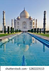 The Famous Taj Mahal in Agra, Uttar Pradesh, India - UNESCO World Heritage