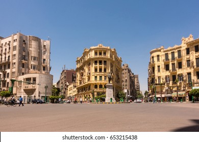 Famous Talaat Harb Square in downtown Cairo, Egypt