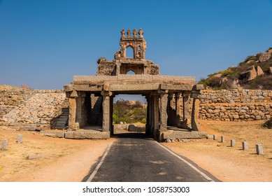 The famous Talarigatta gate is the first historic ruins towards Vittala temple in Hampi. Part of the gate is lost due to ageing.