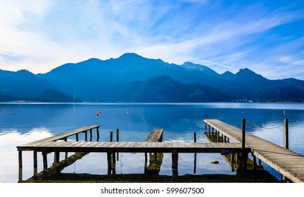 famous tegernsee lake in bavaria - germany