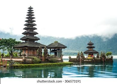 Famous temple in Bali,Ulun danu Hindu temple.