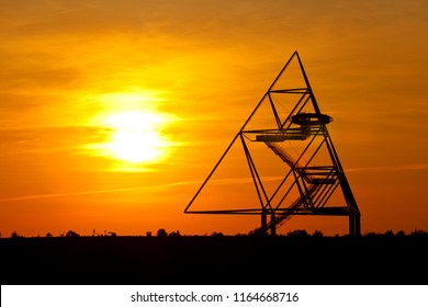 The famous Tetraeder on top of a slag heap in the Ruhr Area in Germany.