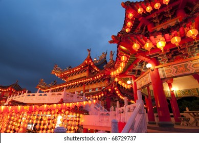 famous thean hou temple in malaysia during chinese new year celebration