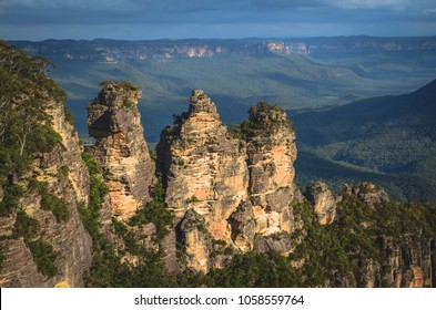 The famous Three Sisters rock in the Blue Mountains National Park, NSW, Australia
