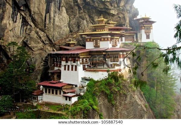 Famous Tiger's Nest Monastery (Taktsang Palphug), Bhutan
