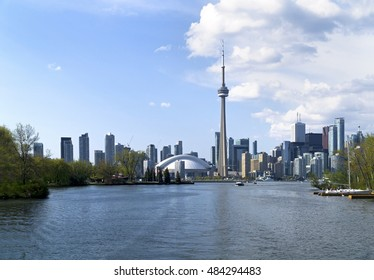 Famous Toronto City view from lake shore west