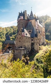 Famous tourist destination of Eltz castle in Germany