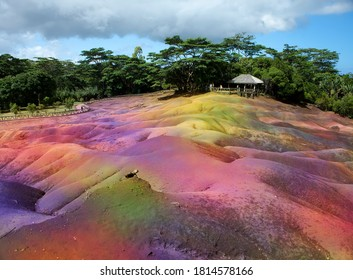 famous tourist place of Mauritius- Chamarel - earth of seven colors