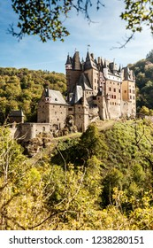 Famous touristic medieval castle Eltz in Germany