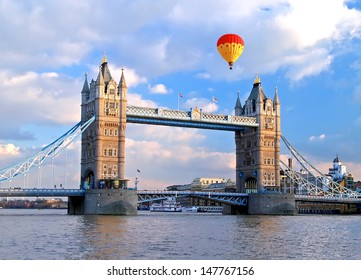the famous tower bridge in london england