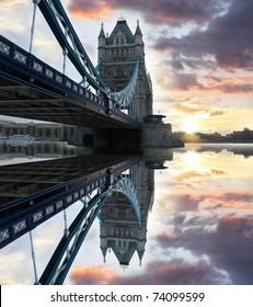 Famous Tower Bridge, London, UK