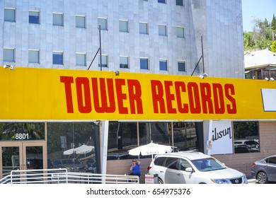 Famous Tower Records in Los Angeles - LOS ANGELES / CALIFORNIA - APRIL 20, 2017