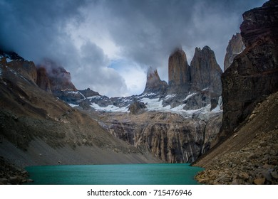 The famous towers of Torres del Paine. Chile. Patagonia.